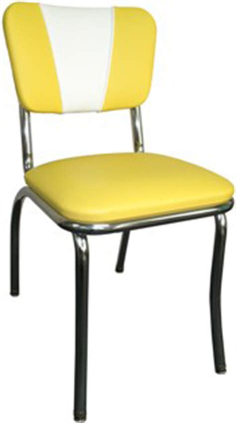 CHAIR DINING METALCRAFT RETRO YELLOW ? Chair Pads & Cushions