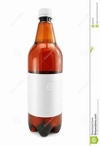 bottle of beer drink with blank label isolated stock image With blank beer labels