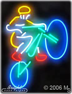 Mountain Biker Neon Sign only $439 99 Signs B