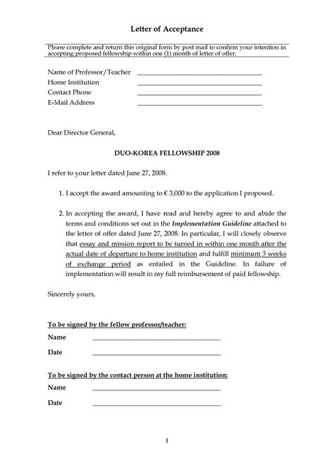 accept offer letter 10 best images about sample acceptance letters on pinterest
