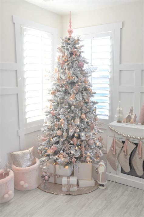 pink christmas decorations ideas  pinterest