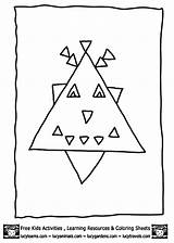 Coloring Triangle Shape sketch template