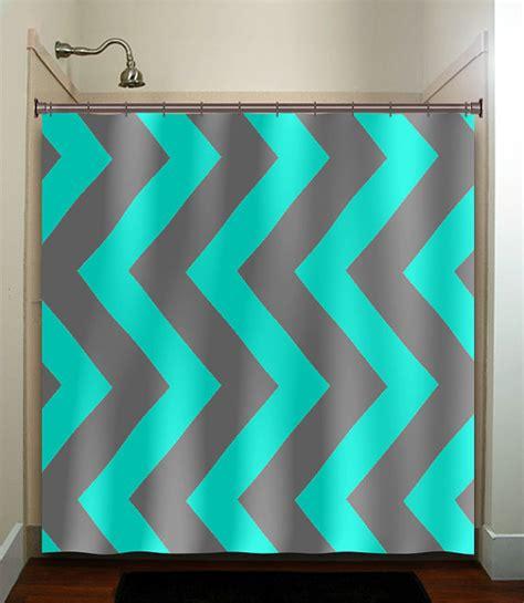 Grey Chevron Bathroom Decor by Aqua Blue Gray Vertical Chevron Turquoise Shower Curtain