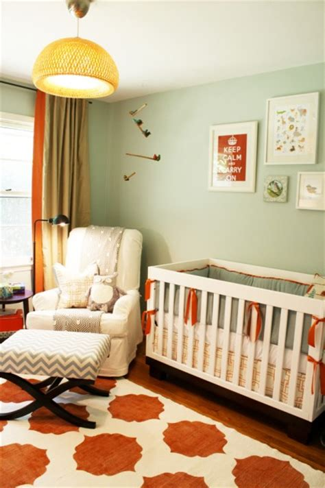 gender neutral nusrery contemporary nursery sherwin williams rain washed charm home design