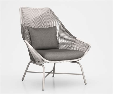 huron large lounge chair and cushion on gray by west elm