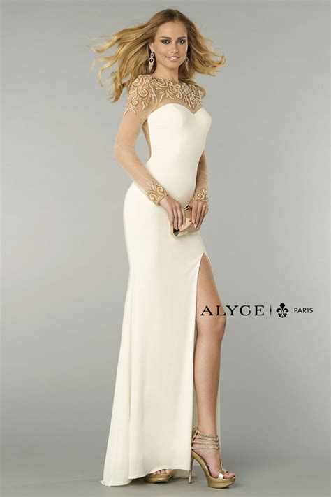 alyce paris  slim fit formal dress french novelty