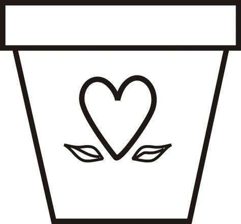 Coloring Page Flower Pot by Coloring Pages Of Flower Pots Clipart Best
