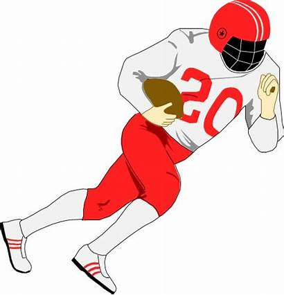 Football Player Clipart American Clip Playing Players