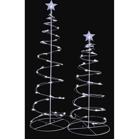 sienna led lighted spiral christmas trees yard decoration