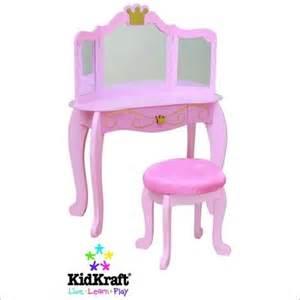 toddler vanity table kidkraft princess makeup wood vanity table and stool