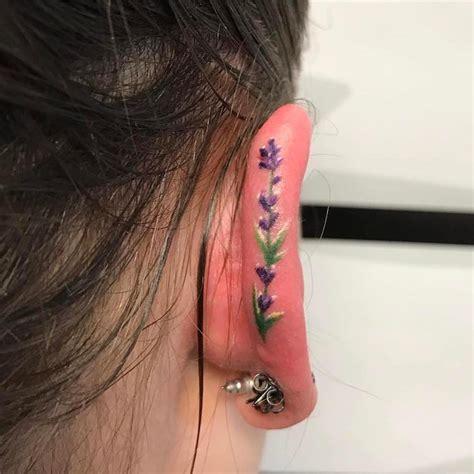 minimalist ear tattoo trend  people  tiny tattoos  ear