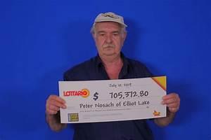 Elliot Lake Man Wins Over  700k