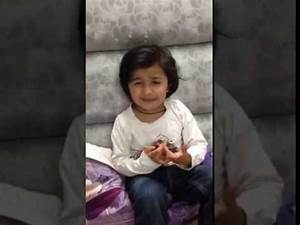 Cute kids pakistani little girl telling about his dad how ...