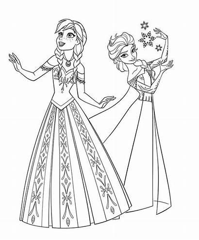 Vestidos Colorear Frozen Coloring Fiesta Princesa