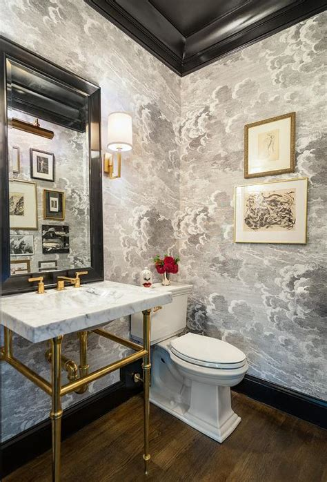 marble  brass washstand  chinois wallpaper