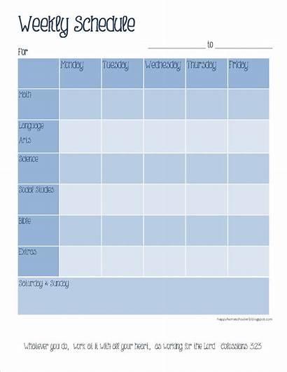 Schedule Weekly Homeschool Printable Planner Homeschooler Happy