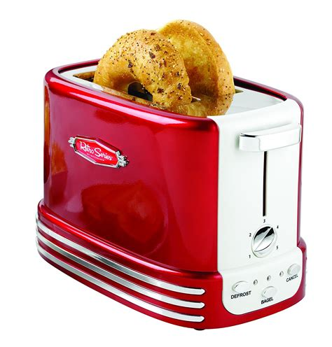 Bagel Toaster by Nostalgia Rtos200 Retro 2 Slice Bagel Toaster My Best