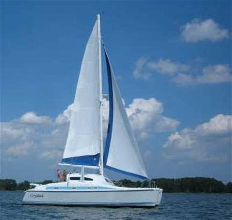 Sailing Catamaran With Daggerboards by Preowned Boats From The Board Of Woods Designs