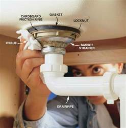 kitchen sink strainer basket installation