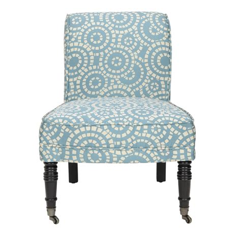 shop safavieh mercer blue accent chair at lowes