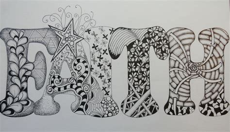 Zentangle Word Drawings