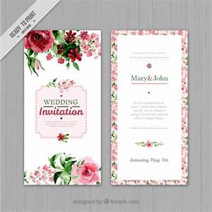 watercolor floral wedding invitation vector free download With floral wedding invitations photoshop