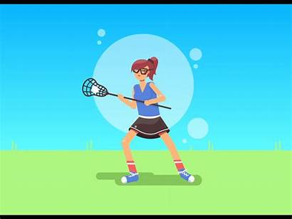 Playing Animation Young Outside Animated Motion Lacrosse
