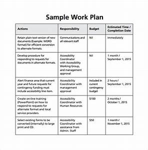 Work plan template 13 download free documents for word for What is a work plan template