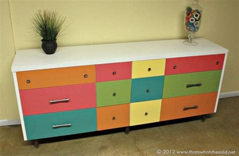 How To Make A Striped And Floral Dresser