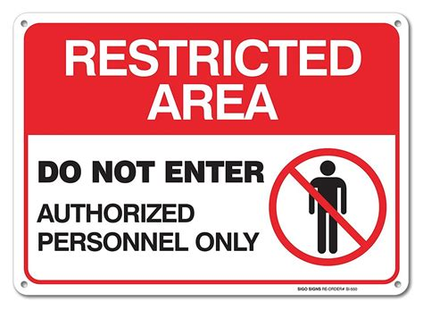 Restricted Area Sign -do Not Enter Authorized Personnel