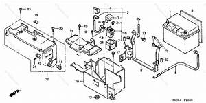 Honda Motorcycle 2005 Oem Parts Diagram For Battery