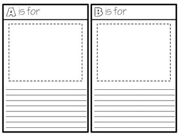 intermediate abc book project template  sarah tighe tpt