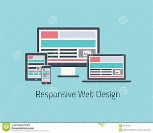 Responsive Web Design Development Vector Flat Styl Stock ...