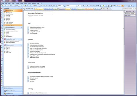 onenote section template creating onenote templates 2010