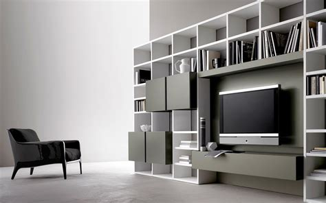 libreria con scrivania integrata soggiorno moderno sangiacomo non mobili cucina
