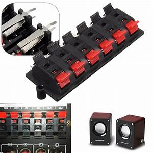 12 Way 2 Row Push Release Connector Plate Stereo Speaker