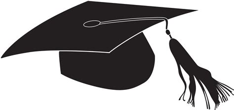 graduation cap clipart top graduation hat flying caps clip cap line images