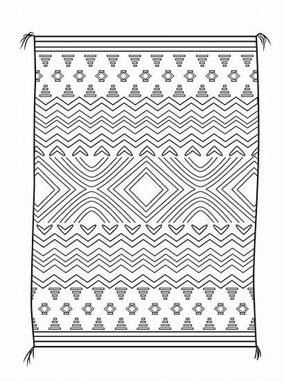 Navajo Tapete Kleurplaat Colorear Quarto Manta Koc