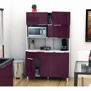 Buffet De Cuisine : lova buffet de cuisine 120 cm aubergine haute brillance achat vente buffet de cuisine pas ~ Teatrodelosmanantiales.com Idées de Décoration