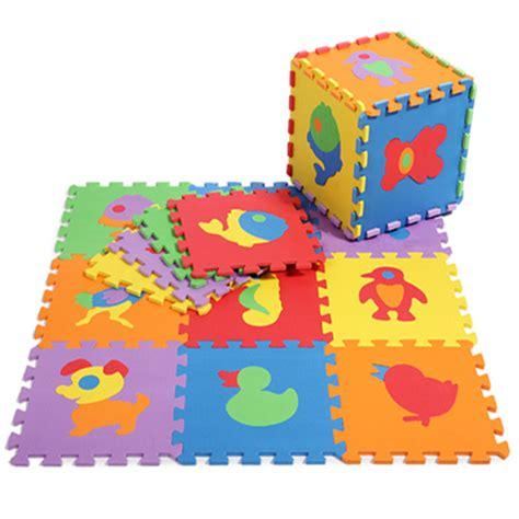 Tapis Puzzle Mousse Bébé Dangereux by Promotion 10 Pcs Lot Animals Play Mat Child Cartoon Eva