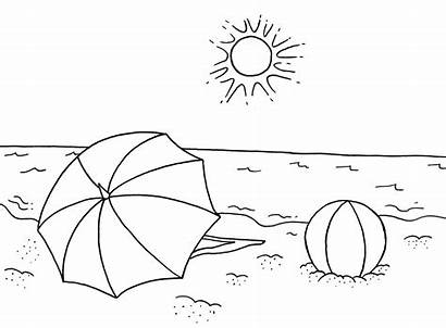 Coloring Beach Pages Fun Scenes Activities