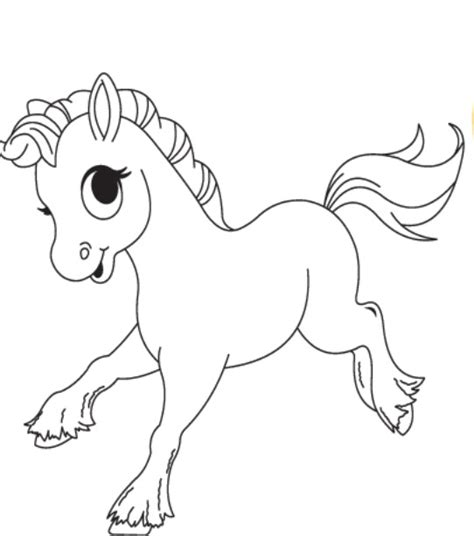 Coloring Pages Of Cute Horses Creative Art