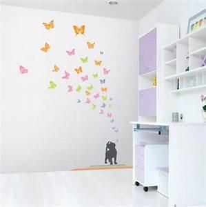 Wandgestaltung Für Kinderzimmer : kinderzimmer wandgestaltung schmetterling ~ Michelbontemps.com Haus und Dekorationen