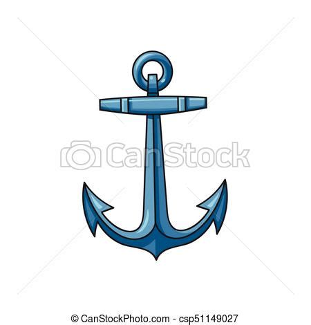 Clipart Boat With Anchor by Metal Sailing Boat Anchor Illustration Metal