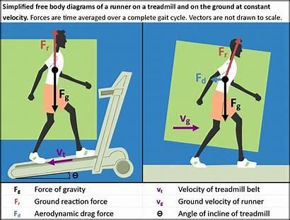 Force Running Physics Treadmill Runner Diagram Numbers