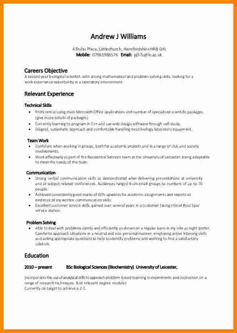 Cv Outline by 5 Cv Outline For Students Theorynpractice