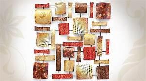 Décoration Murale En Fer : d coration murale style moderne fragments de m tal color s ~ Teatrodelosmanantiales.com Idées de Décoration