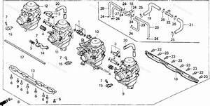 Honda Motorcycle 1991 Oem Parts Diagram For Carburetor