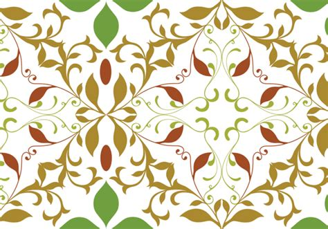 floral garden repeat pattern free vector