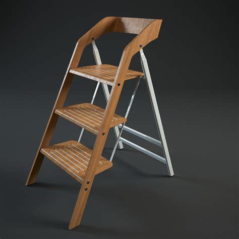 vintage usit stepladder chair 3 step version 3d model max